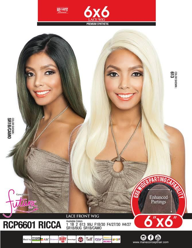 Mane Concept Red Carpet 6x6 Lace Front Wig Rcp6601 Ricca